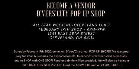 D'VERS'CITY presents THE DIVERSITY POP UP SHOP-ALL STAR WEEKEND 2022 tickets