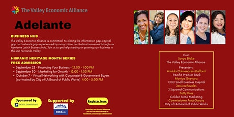 Adelante Business Hub - Network with Corporate & Government Buyers tickets