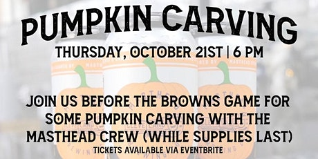 Pumpkin Carving w/ Masthead Brewing Co. tickets