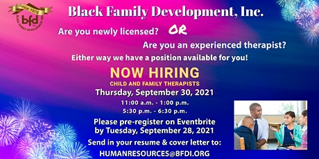 Black Family Development Licensed Therapist Job fair tickets