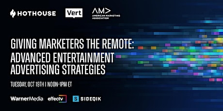 Giving Marketers The Remote: Advanced Entertainment Advertising Strategies tickets