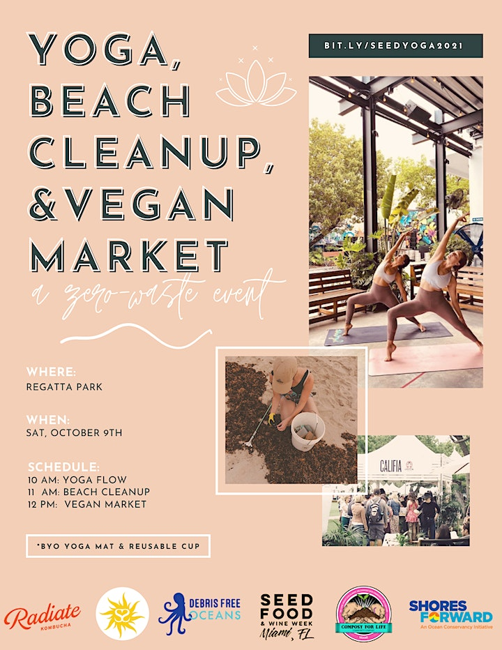 Yoga, Beach Cleanup, and Vegan Market image