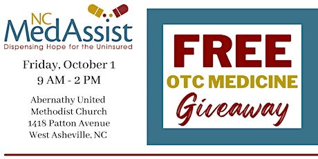 Buncombe County Free Over-the-Counter Medicine Giveaway tickets