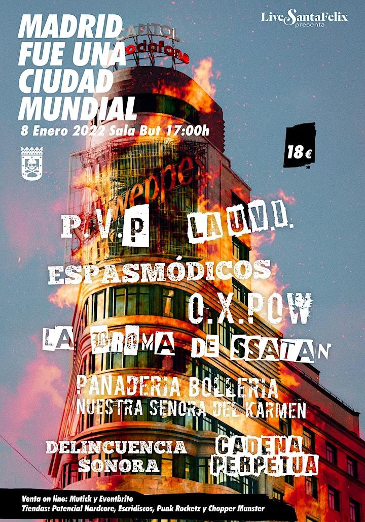 Imagen de Madrid fue una ciudad mundial: PVP, La UVI, Espasmódicos, OX Pow, La Broma
