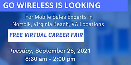 Go Wireless: Virginia Free Virtual Career Fair tickets