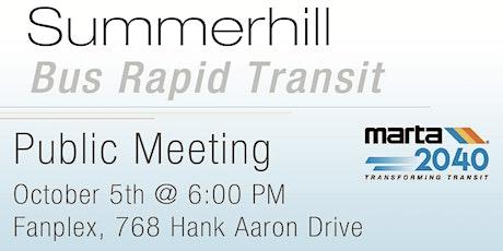 Summerhill Bus Rapid Transit Public Meeting tickets