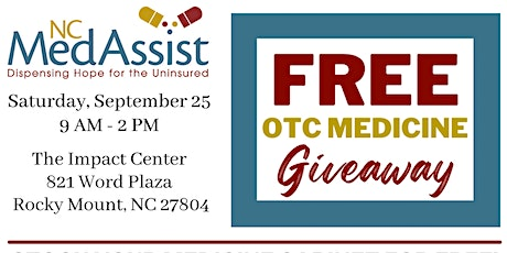 Nash County Free Over-the-Counter Medicine Giveaway tickets