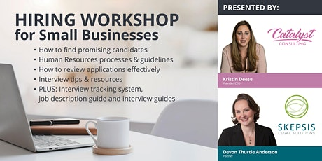 Hiring  Workshop For Small Businesses tickets