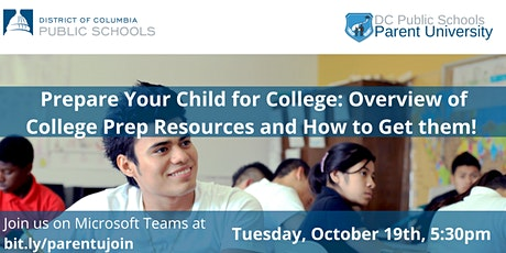Prepare Your Child for College: College Prep Resources and How to Get them! tickets
