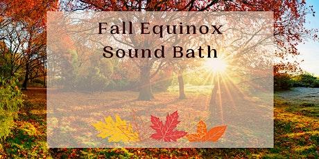 Fall Equinox Sound Bath - Livestream Meditation tickets