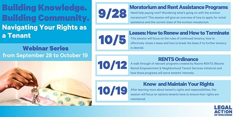 Building Knowledge. Building Community.: Navigating Your Rights as a Tenant tickets
