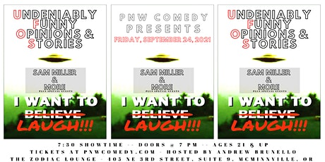UFO'S: A Comedy Showcase in Downtown McMinnville, OR tickets