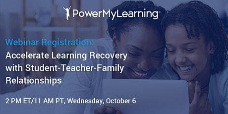 Accelerate Learning Recovery with Student-Teacher-Family Relationships tickets