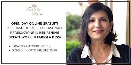 Open Day Online - Percorso di Rebirthing Breathwork di Fabiola Dessì biglietti