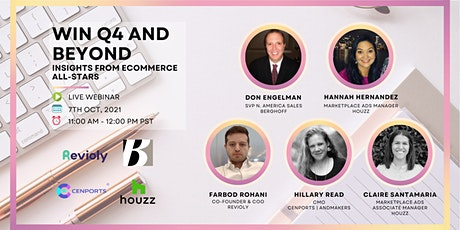 Win Q4 and Beyond with Insights from eCommerce All-Stars (Zoom Webinar) tickets