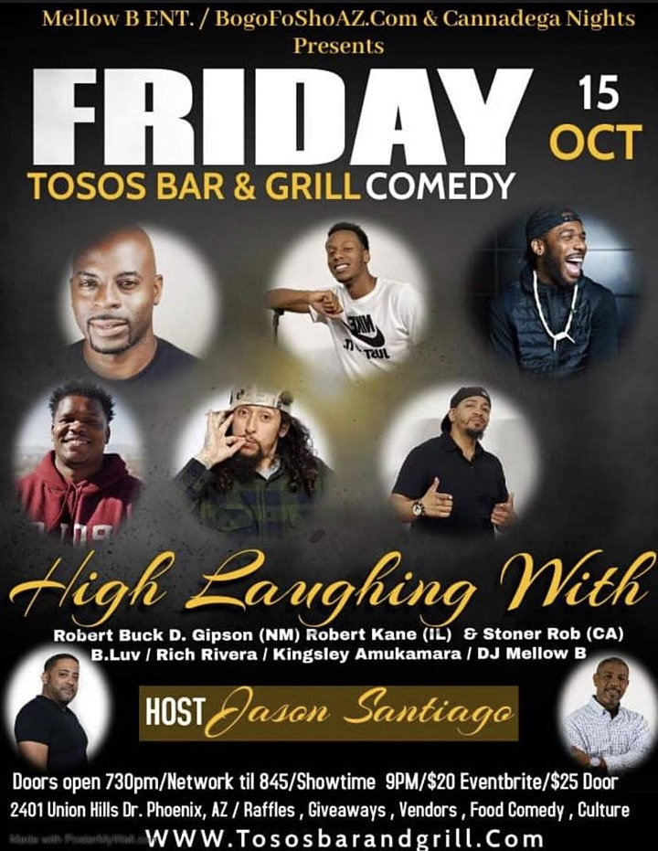 Laughing High Comedy Show Tosos Bar & Grill image
