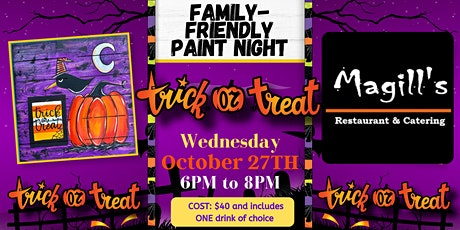 Trick or Treat Raven Family-Friendly Paint Night! tickets