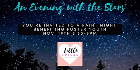 """""""An Evening With The Stars"""" Paint Party to benefit Foster Youth tickets"""