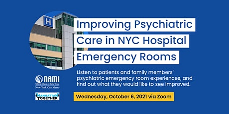 Improving Psychiatric Care in NYC Hospital Emergency Rooms tickets