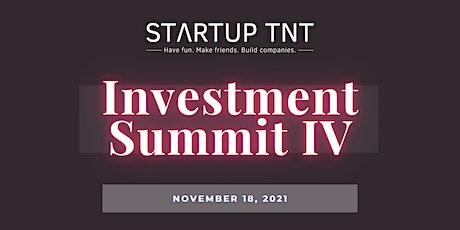 Startup TNT Investment Summit IV tickets