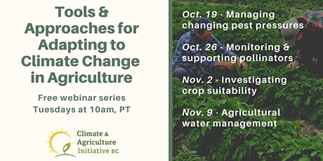Agricultural water management in a changing climate tickets