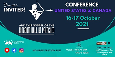 International Conference Framingham, MA - October 16th-17th of 2021 tickets