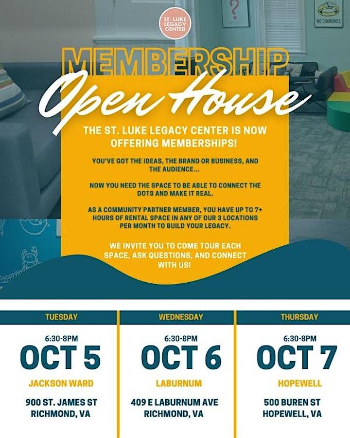 St. Luke Legacy Center : Jackson Ward : Open House image