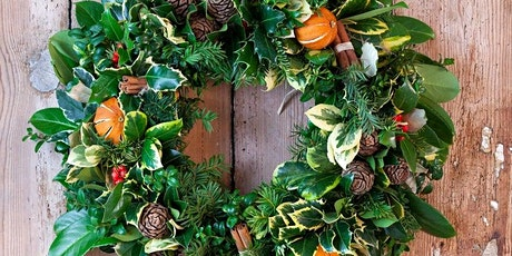Make a fresh Christmas Door Wreath workshop - Covent Garden tickets