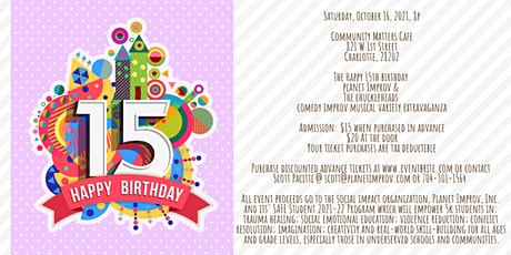 The Happy 15th Birthday Planet Improv & The Chuckleheads Improv Comedy Show tickets
