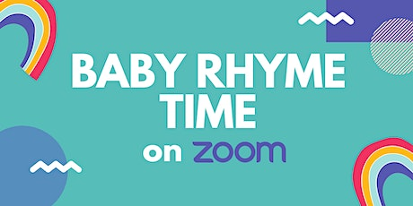 Baby Rhyme Time on Zoom tickets