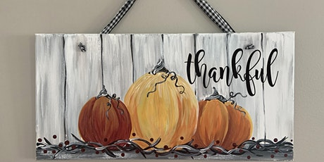 Thankful Pumpkins Canvas Paint & Sip Art Class Akron tickets