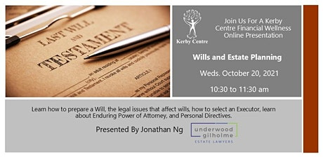 Wills and Estate Planning tickets
