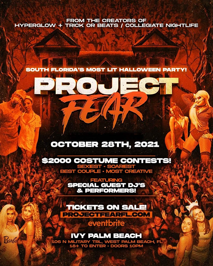 """PROJECT FEAR West Palm Beach! """"South Florida's Most Lit Halloween Party"""" image"""