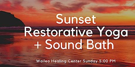 Sunday Sunset Restorative Yoga + Sound Bowls tickets