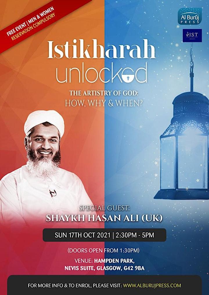 Istikharah Unlocked with Shaykh Hasan Ali: GLASGOW: FREE! image