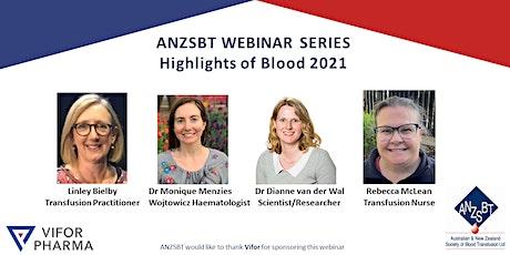 ANZSBT WEBINAR SERIES 2021 - Highlights of BLOOD 2021 tickets