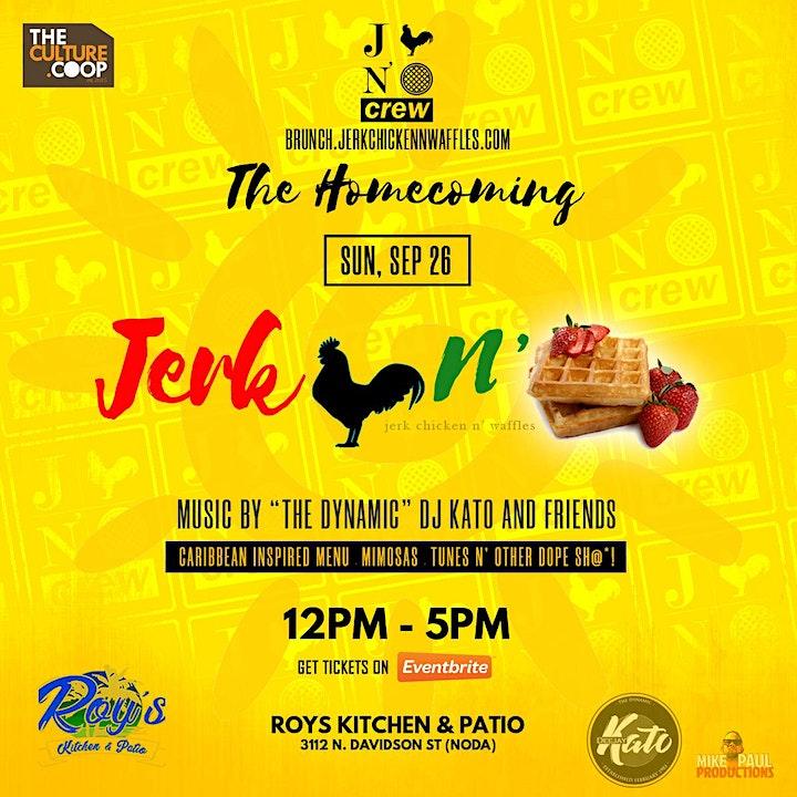 Jerk Chicken N' Waffles Brunch: Homecoming image