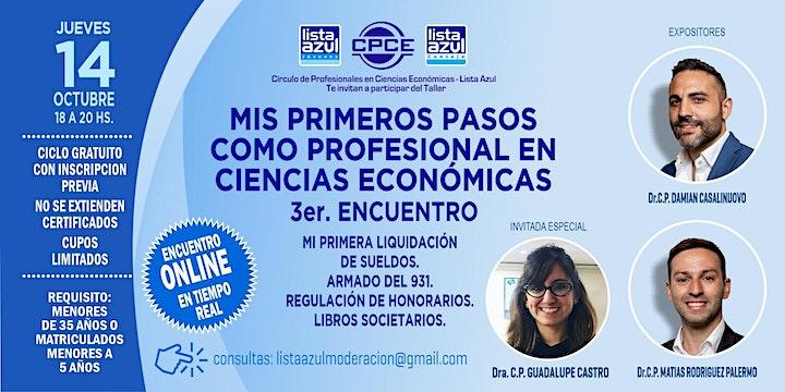 Imagen de 3er. Encuentro Gratuito . Mis primeros pasos como prof en Cs Económicas