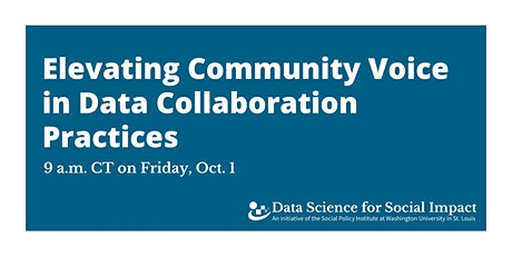 Elevating Community Voice in Data Collaboration Practices tickets