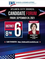 City of Atlanta City Council District 6 Candidate Forum 2021 tickets