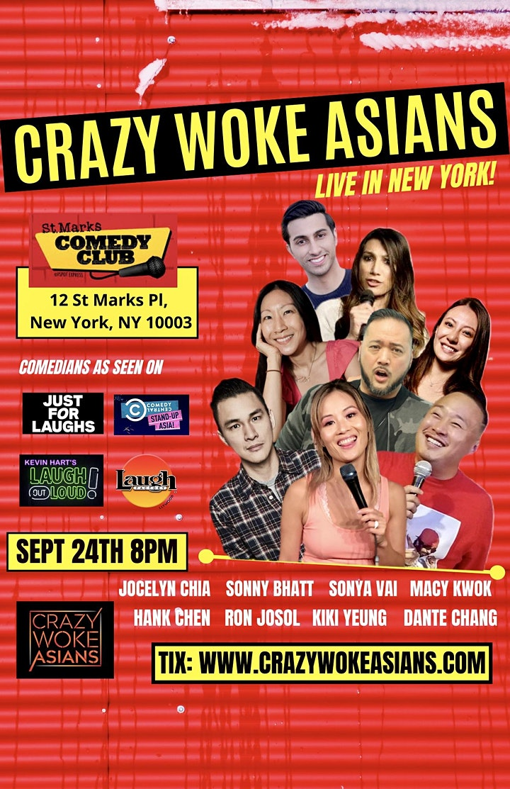 CRAZY WOKE ASIANS LIVE IN NEW YORK ST MARKS COMEDY CLUB! ONE NIGHT ONLY! image