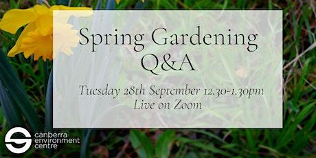Spring Gardening Q&A tickets