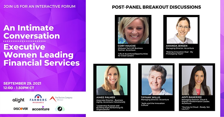 Intimate Conversation With The Executive Women Leading Financial Services image