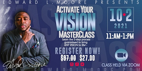 Activate Your Vision Masterclass tickets