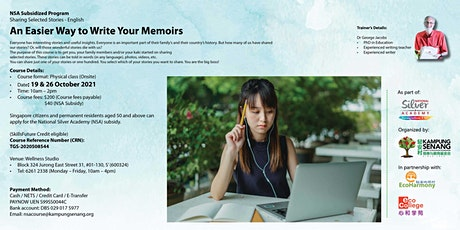 An Easier Way to Write Your Memoirs tickets