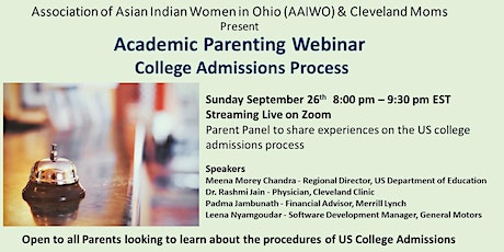 Parenting Webinar on the College Admissions Process tickets
