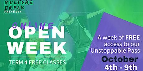 FREE Open Week Online Classes tickets