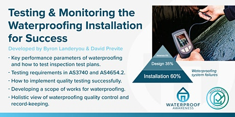 Monitoring & Testing  the waterproofing installation for success tickets