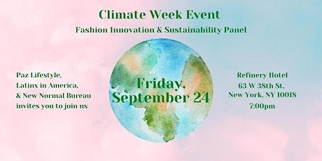 Fashion Innovation & Sustainability Panel tickets