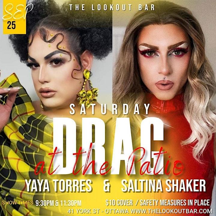 Saturday Night Drag - Saltina Shaker & Yaya Torres - 9:30pm image